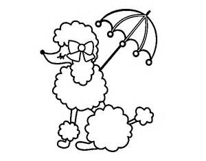 poodle coloring pages poodle with sunshade coloring page