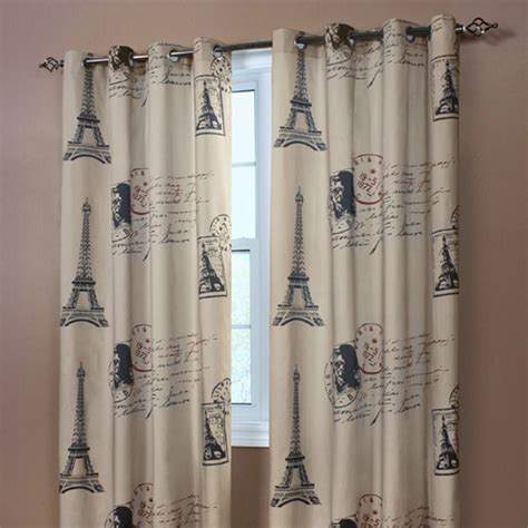 paris curtain panel   entire wall hanging