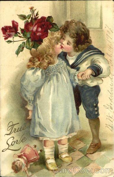 girl  boy kissing children