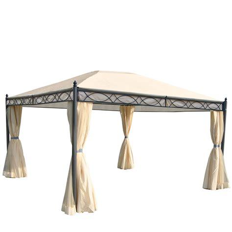 pavillon mit klappbarer seitenwand pergola cadiz garten pavillon 7cm gestell mit seitenwand