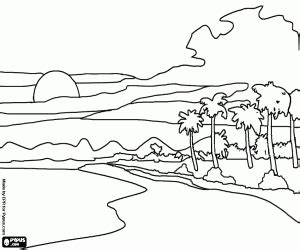 tropical landscape coloring page natural landscapes coloring pages printable games