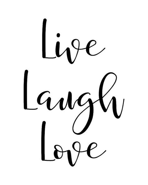 live laugh love art printable wall art quote quot live laugh love quot typography