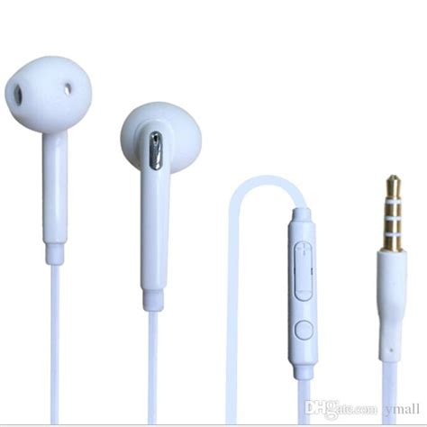 Earphone Samsung S5 s6 earphones ear gels headphone earbuds with microphone and volume for samsung galaxy s6