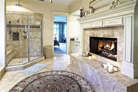 fireplace bathroom 20 master bathrooms with fireplaces for 2018