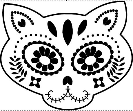 dia de los muertos pumpkin template call ajaire day of the dead celebration silhouettes