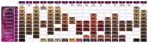 matrix hair color chart so color chart weave hair colour chart image collections
