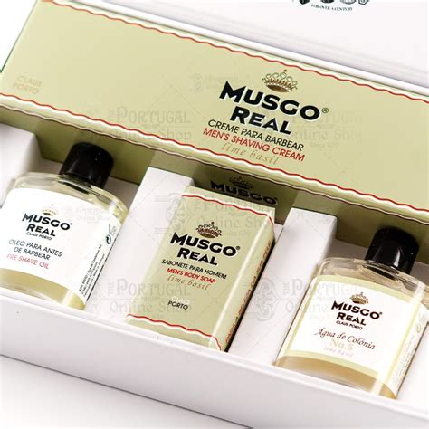 claus porto musgo real white gift box shave set lime basil claus porto