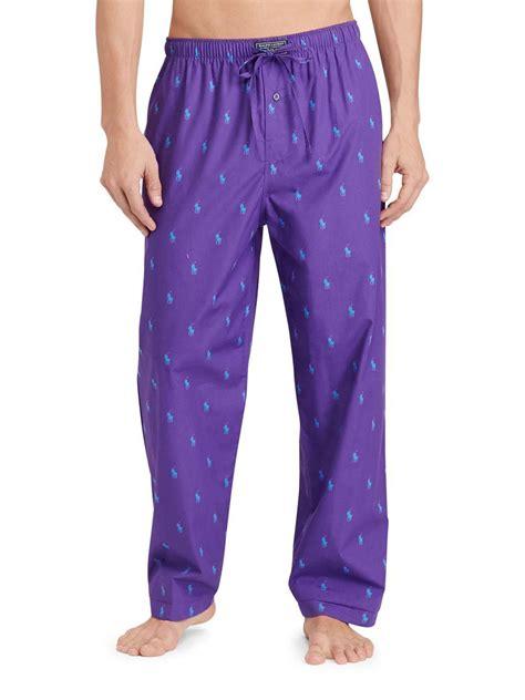 jersey pajama pattern lyst polo ralph lauren pony print jersey pajama pants in