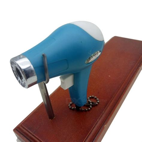 Hair Dryer Gas creative hair dryer shaped gas lighter random color free shipping dealextreme