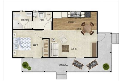 granny house floor plans granny flat designs 45sqm one bedroom granny flat