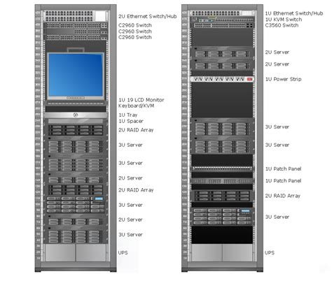 Server Rack Diagram Software conceptdraw sles computer and networks computer network diagrams