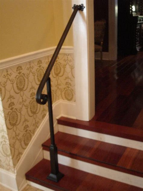 2 Stair Handrail 4 Ft Wrought Iron Handrail Stair Step Railing With By