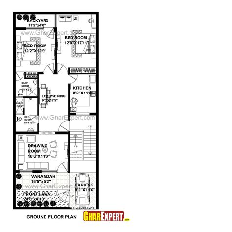 house design 15 feet by 60 feet house plan for 26 feet by 60 feet plot plot size 173