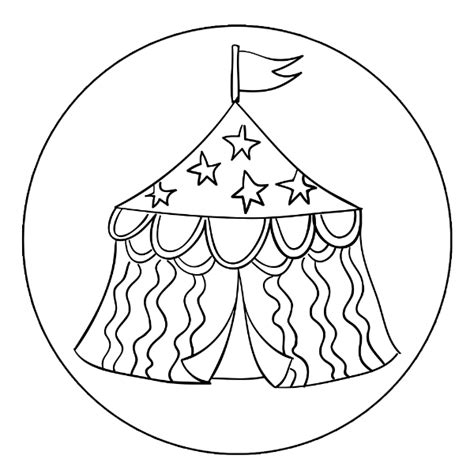 circus tents colouring pages page 2