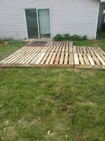 temporary deck pallet deck patio temporary back deck ideas pinterest
