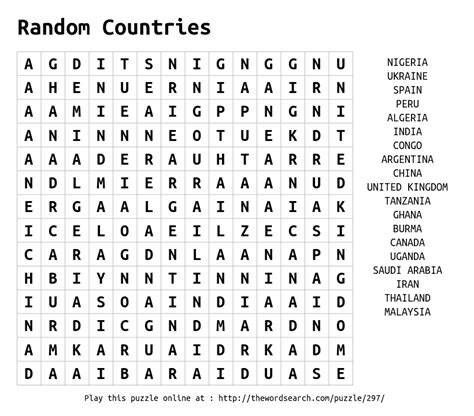 How To Search Random On Word Search On Random Countries