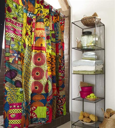 african print curtains african print shower curtain design pinterest