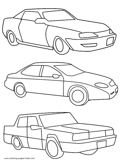 coloring page of a car pictures of cars to color in