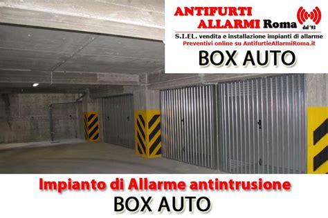 antifurto box auto impianto di allarme antifurto box auto roma antifurti e