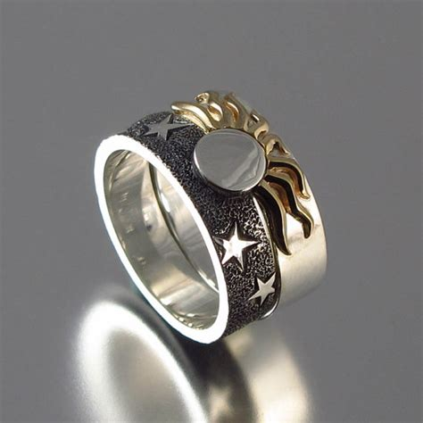 Wedding Ring Eclipse by Solar Eclipse Sun And Moon Engagement Ring And By Wingedlion