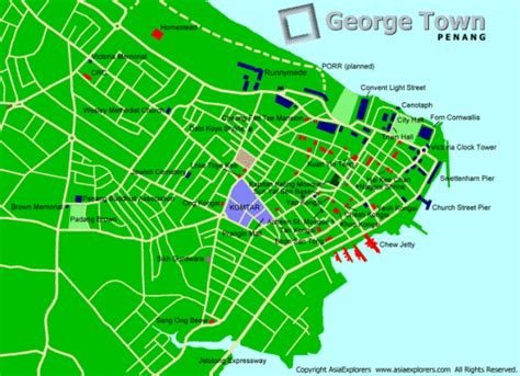 printable map georgetown penang a world of penang