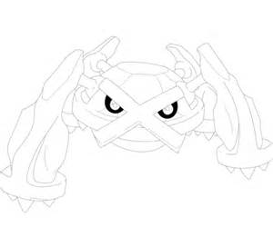 metagross coloring free printable coloring pages