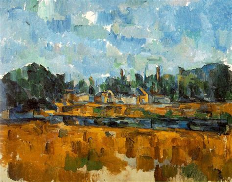 cezanne and cubism riverbanks paul cezanne wikiart org encyclopedia of