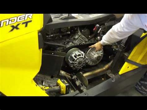 brp can am commander 800 1000 clutch removal disassembly