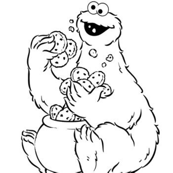 cookie monster coloring pages printable free coloring
