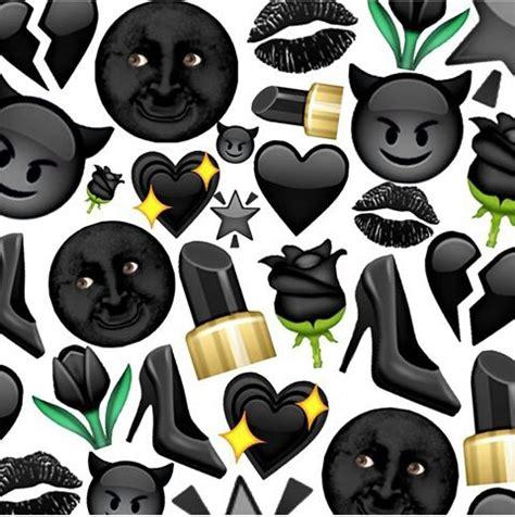 wallpaper emoji black black emojis image 3547768 by helena888 on favim com