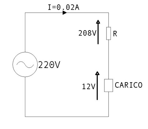 alimentatore senza trasformatore abbassare la tensione con un condensatore areacom