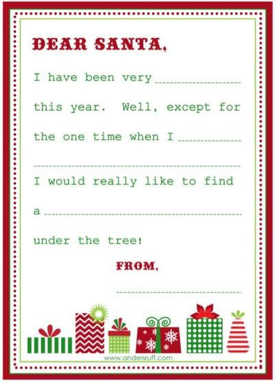 secret santa template wishlist free printable blank letter to santa