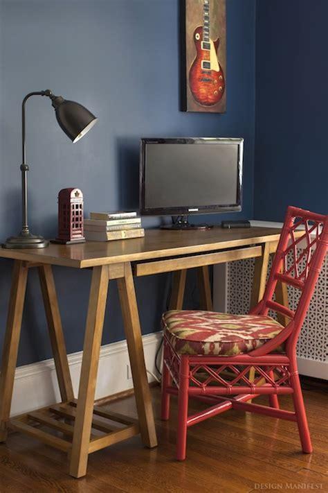 sawhorse desk contemporary boy s room benjamin moore