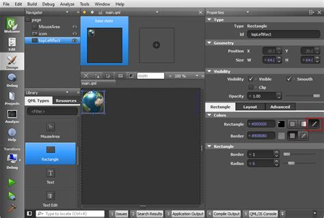 qml layout border qt5 tutorial creating qtquick2 qml application animation a