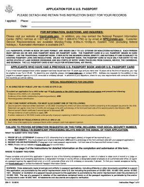 Printable Passport Application