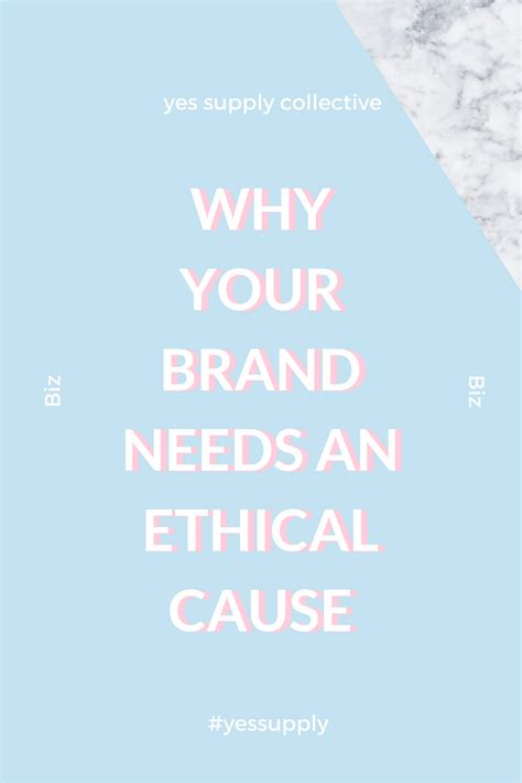 brand doctor helping you grow your business by building why your brand needs an ethical cause yes supply co
