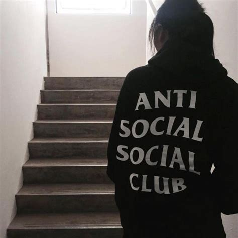 Antisocial Black anti social grunge and black grunge on