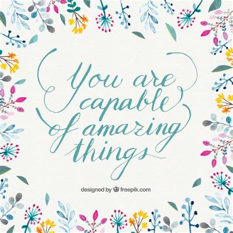 citazioni fiori citazione inspirational con fiori disegnati a mano