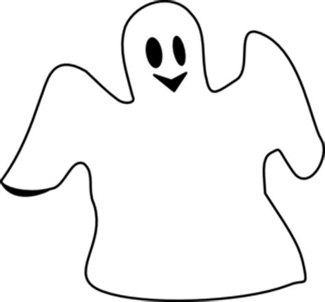 Ghost Clipart Black And White