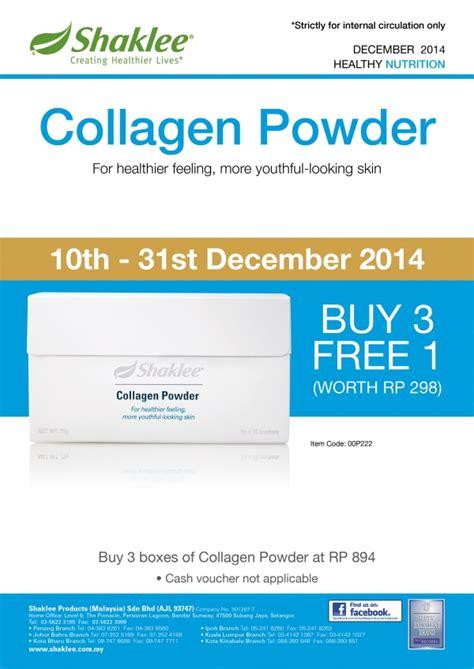 Harga Pac Powder promosi shaklee disember 2014 vita c vita e collagen
