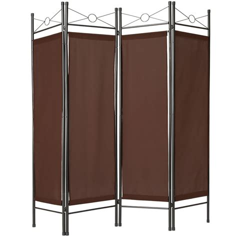 fold up screen room divider 4 panel room divider separator panel wall movable