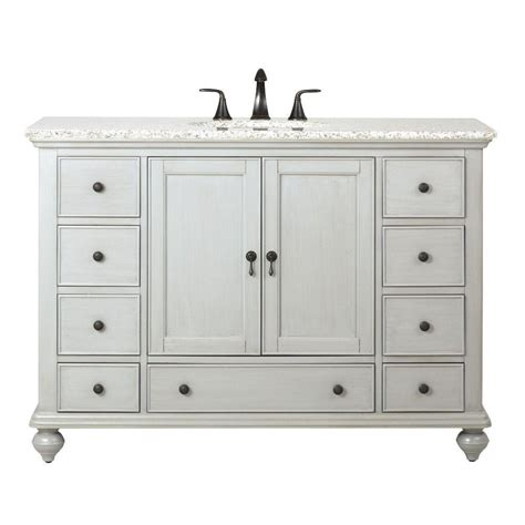 Home Decor Bathroom Vanities Home Decorators Collection Newport 49 In W X 21 1 2 In D Bath Vanity In Pewter With Granite