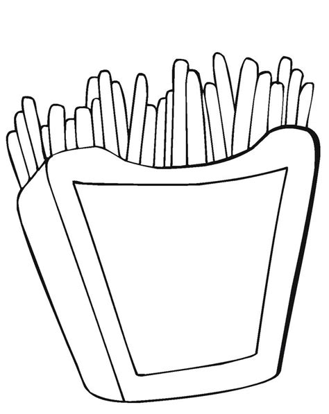 french fries free colouring pages