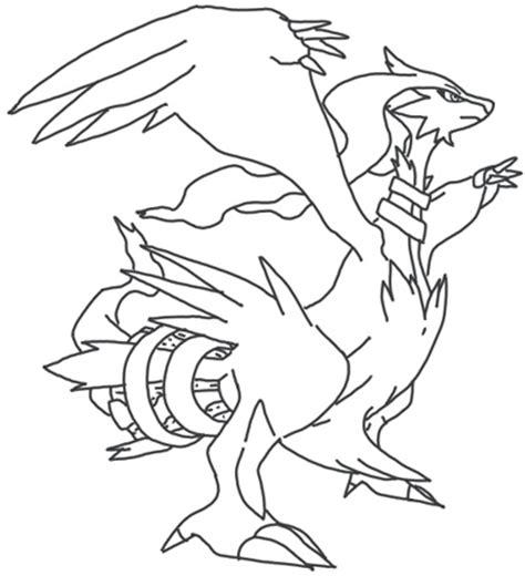 pokemon coloring pages of zekrom and reshiram how to draw reshiram gotta catch em all pinterest