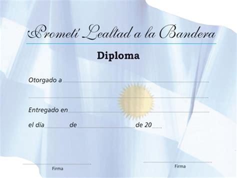 diploma jura de la bandera diplomas para el dia bandera taringa