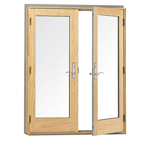 400 a series hinged wood doors andersen 60 in x 80 in 400 series frenchwood white