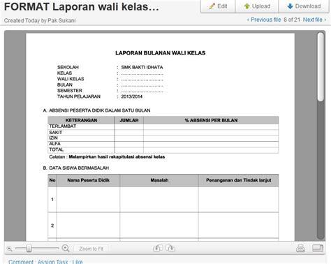 format laporan wali kelas 2013 guraruguraru
