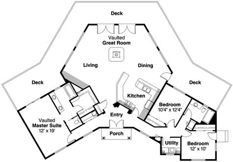 hexagon floor plans contemporary house plans forsythia 10 426 associated