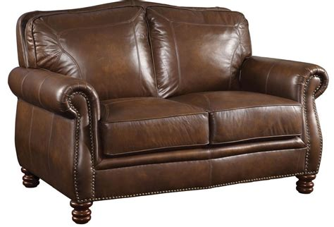 Brown Leather Sofa And Loveseat Coaster Furniture Montbrook Brown Leather Loveseat 503982