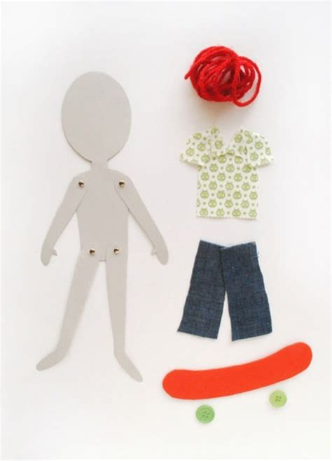 Paper Dolls To Make - diy articulated paper dolls handmade